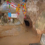 the entrance to the cave