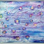 Aufwachen SRA-2/3 - 1.00 x 0.80m - Öl- und Acrylfarben, Struckturpaste, Blattgold 18 Karat