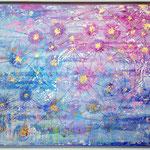 Aufwachen SRA-3/3 - 1.00 x 0.80m - Öl- und Acrylfarben, Struckturpaste, Blattgold 18 Karat