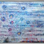 Aufwachen SRA-1/3 - 1.00 x 0.80m - Öl- und Acrylfarben, Struckturpaste, Blattgold 18 Karat