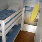 La chambre cabine et ses lits superposés
