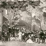 Gerichtsszene vor dem Niedertor in Luzern