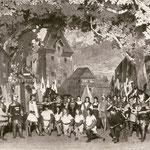 Ritterschlag im Lager des Herzogs in Sursee