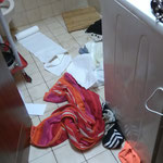 Unfall-Reinigung wird durchgeführt