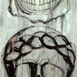 """Marionette"" mixed 80 x 120 cm, 2013 -  SOLD"