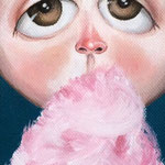 """Cotton candy"" Acrylic 10 x 30 cm, 2015 -  SOLD"