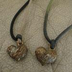 真鍮のハートネックレス