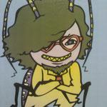友人が描いてくれた虫阿部。呂布。