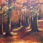Herbstwald 2019, Acryl auf Leinwand, 60 x 60 cm