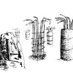 Piles in verschiedenen Stadien