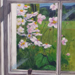 Schottland: Blick aus dem Fenster, ca. 32 x 42 cm, Acryl auf Papier, 2017