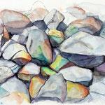Steine am Watt