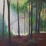 Sommerwald, 60 x 60 cm, Acryl auf Leinwand, 2020