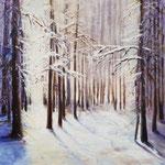 Winterwald, 60 x 60 cm, Acryl auf Leinwand, 2020