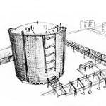 Tank und Teil der Anlage