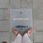 """Der Stern von Nicolas Cage auf dem """"Walk of Fame"""" Oldenburg"""