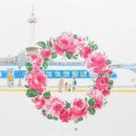 高島屋輪バラ企画 京都駅