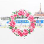 高島屋輪バラ企画 東京駅
