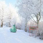 Winter - vor dem Vereinshaus, Foto: Kaden