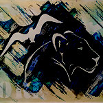 """""""panther and bird"""" 