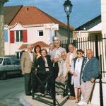 préparation inauguration rue du Capitaine Dreyfus juin 2005