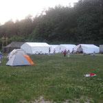 der Zeltplatz an der Edelweißhütte am Deckersberg bei Hersbruck