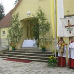 der Altar an der alten Schule