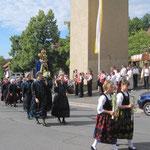 Beginn der feierlichen Prozession