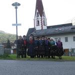 unsere Truppe kurz vor der Maria Himmelfahrtsprozession