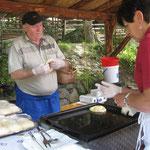 hier wird die Ötztaler Spezialität: Ziachkiachlen gebacken