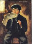 """""""Le grand-père Alfred Bouchet"""" - 1918 - aquarelle (23x32)"""