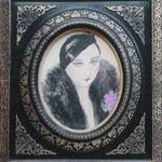 """""""Femme en noir"""" -aquarelle"""