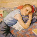 """Rêverie"" (Anne-Marie Choubry) - 1930 - huile (65x50)"