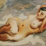 """""""Grand nu"""" - 1930 - huile (93x65) (exposé au Salon des Indépendants)"""