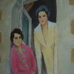 """""""Femmes à une fenêtre"""" - (48x57)"""