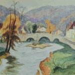 """""""Vieux pont de Chambon"""" -"""