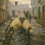 """Vieille femme"" - 1915 - huile (16x26)"