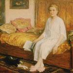 """""""La femme de Pierre Chartier"""" - 1955 - huile (99x81)"""
