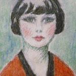 """""""Portrait de femme"""" -crayon"""