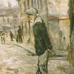 """Vieil homme"" - 1915 - huile (16x27)"