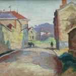 """""""Paysage de rue"""" -huile- (44x37)"""