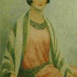 """Femme à la robe rose"" -huile"