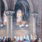 """""""Léon Chandon à une communion"""" -huile"""