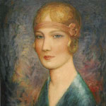 """Femme au bandeau"" - huile"