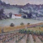 """""""Vignes en Champagne"""" -pastel"""