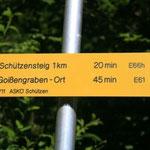 Einstieg/Ausstieg bei der Dirnbachbrücke