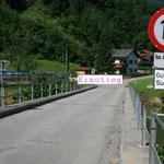 Einstieg/Ausstieg bei der Sulzbachbrücke