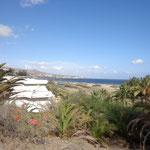 Gran Canaria - Blick auf den Strand von Playa del Ingles und App. Santa Monica