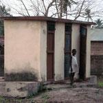 Les latrines du dispensaire