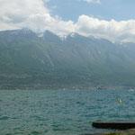 Ankunft am Lago di Garda - Blick aus meinem Bus